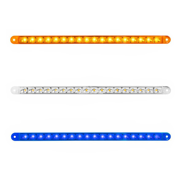 """12"""" LED Pearl Series Dual Function Flush Surface Mount Light Bar By Grand General - On"""