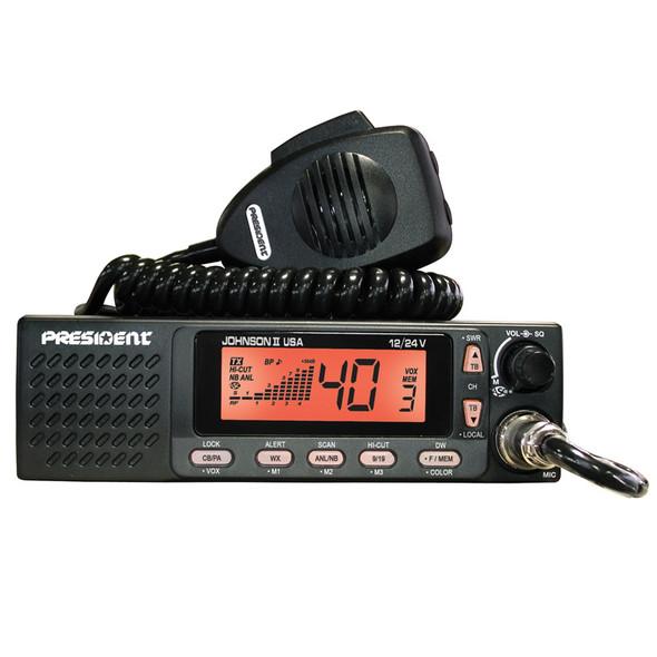 Johnson II 40 Channel President CB Radio Orange Display