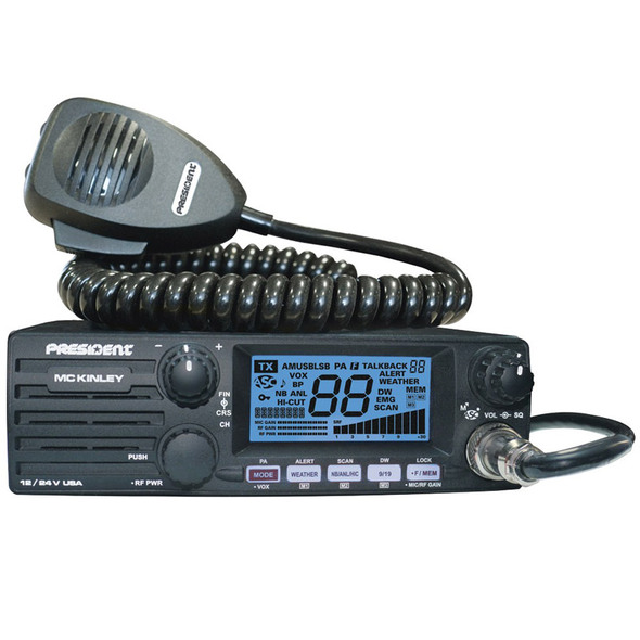 McKinley AM/SSB DIN Size President CB Radio Blue Display