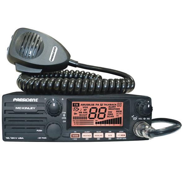 McKinley AM/SSB DIN Size President CB Radio Orange Display
