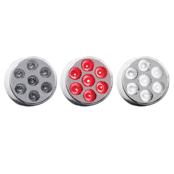 """2.5"""" Round Dual Revolution Red Marker To White Auxiliary Front"""