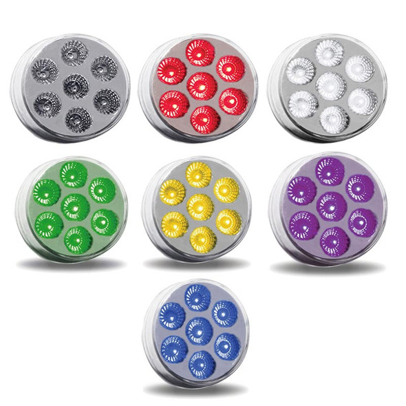 """2.5"""" Round Dual Revolution Multi Color Auxiliary Front"""