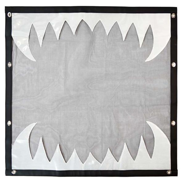 Kenworth W900L Black Bug Screen With White Reflective Teeth