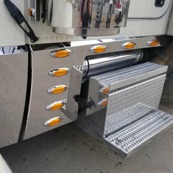 "Peterbilt 389 131"" Cab Cowl Panels - Amber"