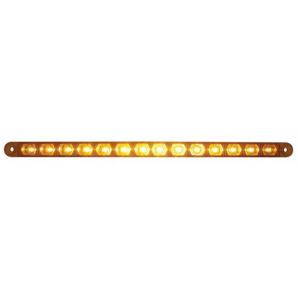 "14 LED 12"" Light Bar Replacement For Headlight Bezel Amber/Amber"
