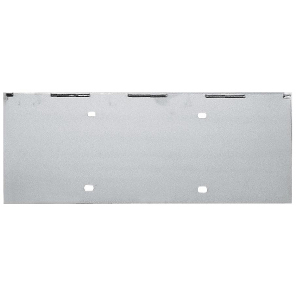 "Universal Stainless Steel 18 1/4"" 1 License Plate Holder"