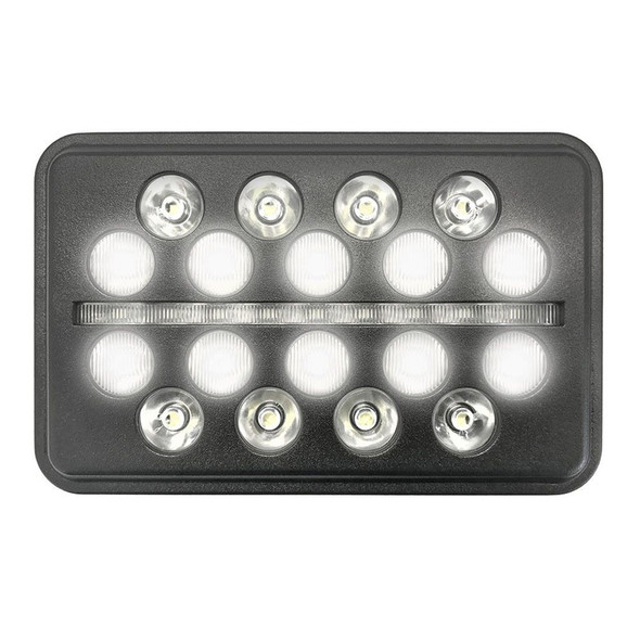 """6""""x 4"""" Rectangular Black Ops LED Headlight Inner Lights"""