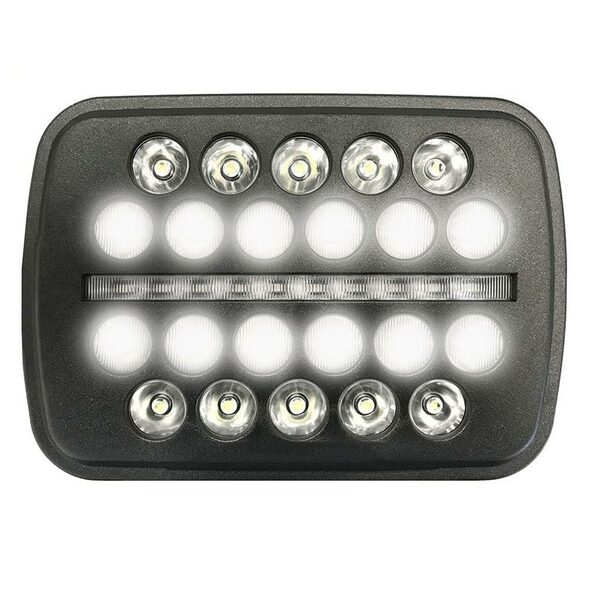 """5""""x7"""" Black Ops LED Headlight Center On"""