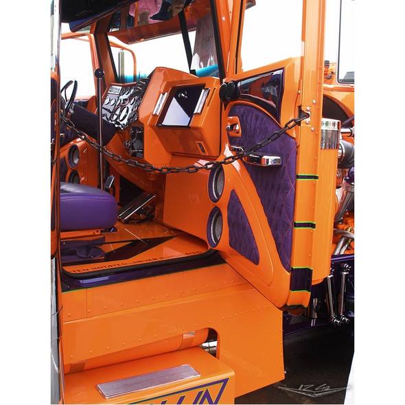 Peterbilt Aluminum or Stainless Steel Cab Flooring Orange Passenger By 12 Gauge Customs
