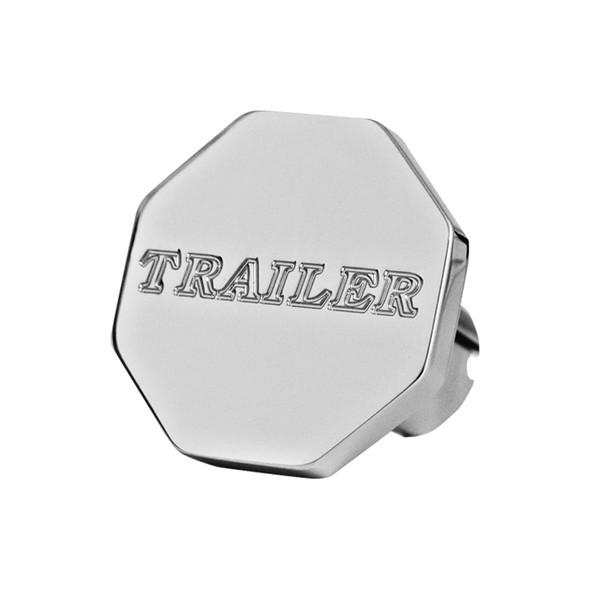 Engraved Tractor Trailer Script Air Brake Knob (Octagon, Trailer)