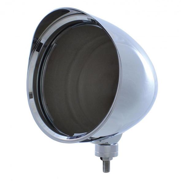 Chrome CHOPPER Headlight Housing With Smooth Visor