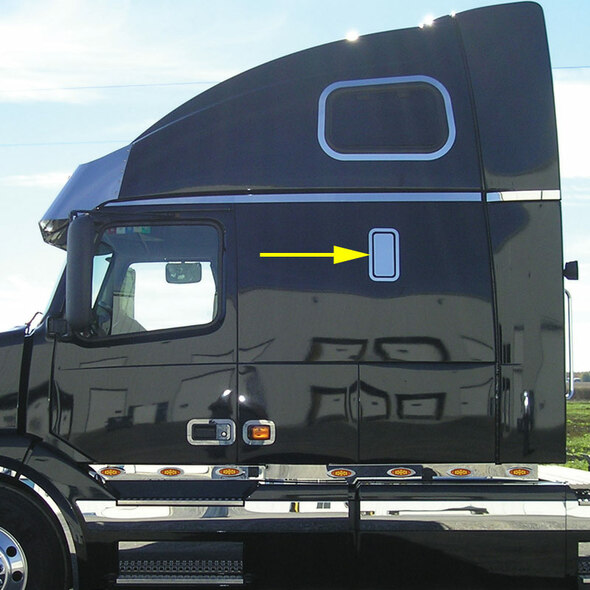 Volvo VN Sleeper Vent Trim Kit On Truck