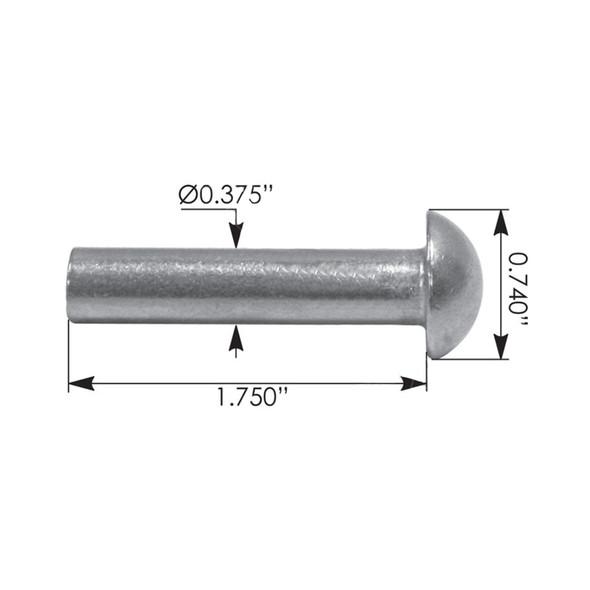 "International 1.75"" Hood Latch Large Pin Measurements"
