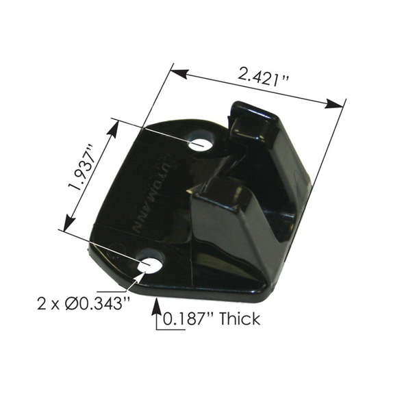 International Hood Latch Catch 500271C1 475802C1 Measurements