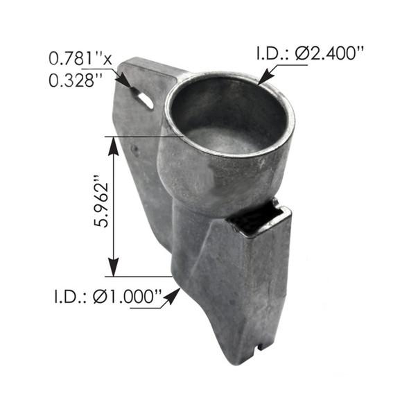 Peterbilt 387 1999-2010 Hood Latch Receptacle 13-04799 13-05118 Measurements