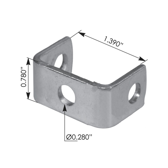Kenworth Peterbilt Hood Latch Bracket 13-04470 Measurements
