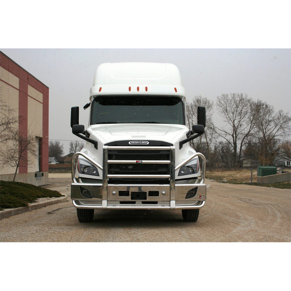 Freightliner Cascadia Ali Arc Curved Front Bumper Grill Guard