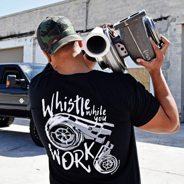 Whistle While You Work Hammer Lane T-Shirt On Model 1