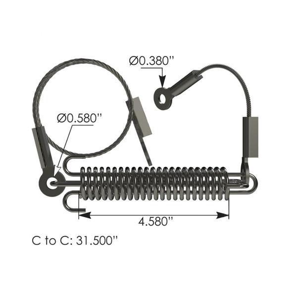 Mack Vision Hood Cable 27RC256M3 25163167 Measurements