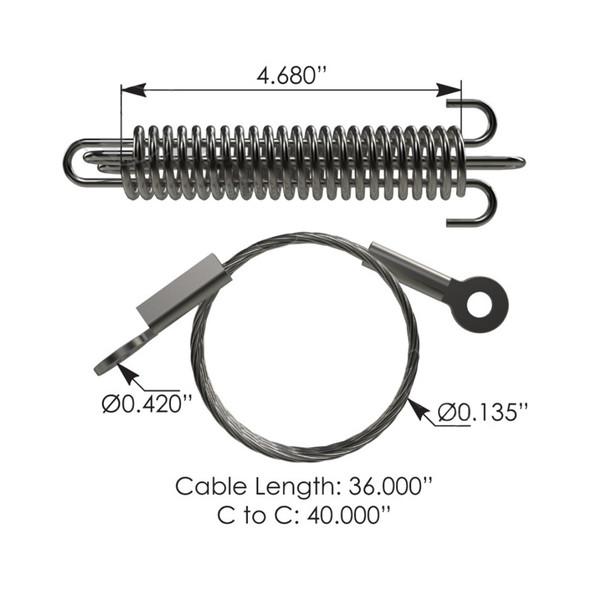 Peterbilt 330 Hood Cable 13-04503-040