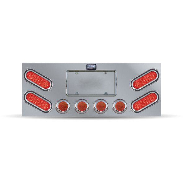 Rear Center Panel With Red Oval Mirror LED's