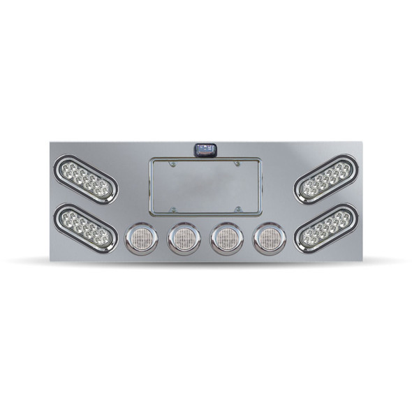 Rear Center Panel With Clear Oval Mirror LED's