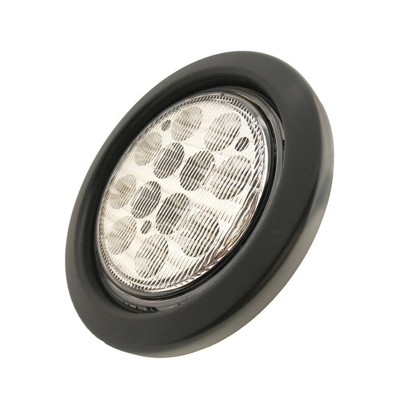 """4"""" Round White Back-Up 12 LED Light Kit Side"""