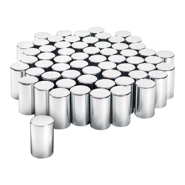 Chrome Plastic 33mm Cylinder Nut Covers Pack