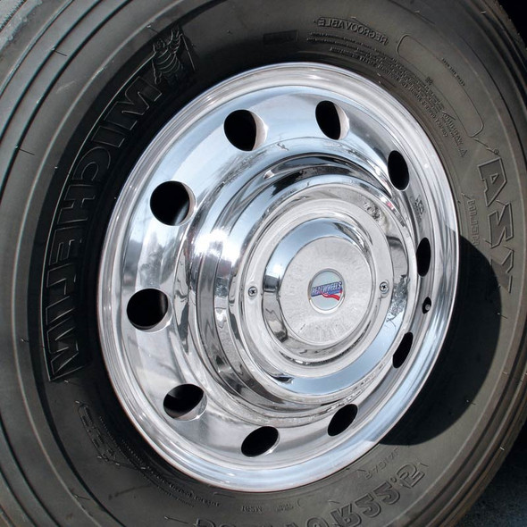"""22.5"""" Stainless Steel Cover-Up Hub Covers"""