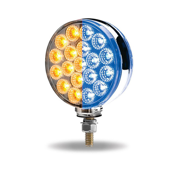Round Double Face LEDs With Reflector Blue