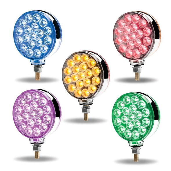 Dual Revolution Round Double Face LEDs With Reflector
