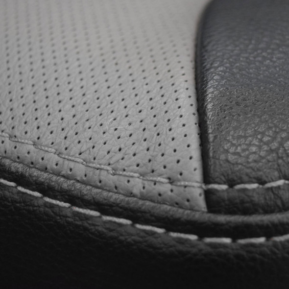 Power Chief Truck Seat With Headrest By Knoedler (Stitching View)