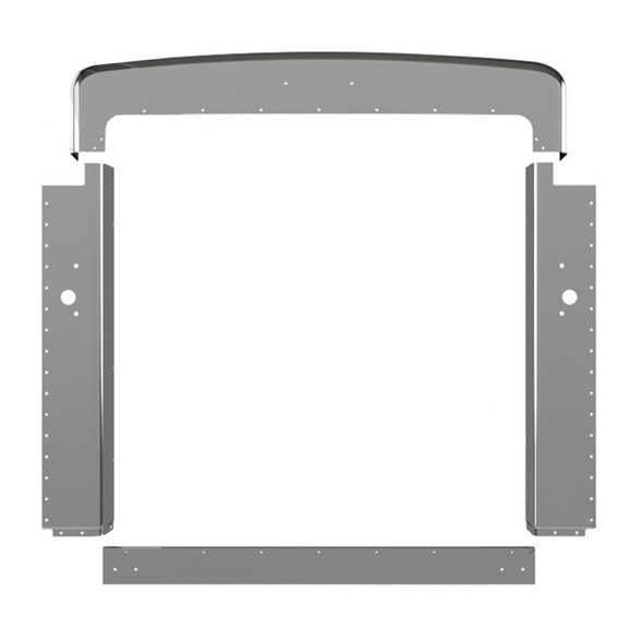 Peterbilt 379 Grill Surround Trim Chrome Plated Steel Extended Hood