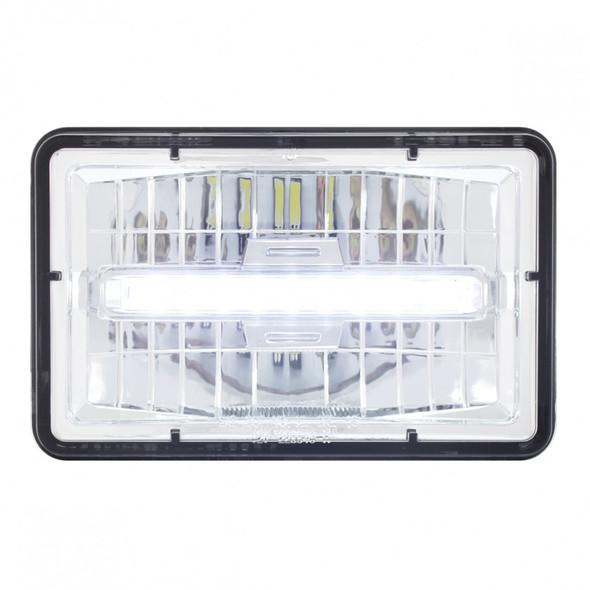 """High Power LED 4"""" x 6"""" Rectangular Headlight Daytime Running Light"""