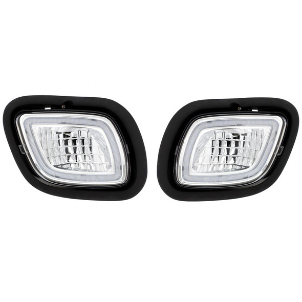LED Fog & Driving Light With Halo Position Light