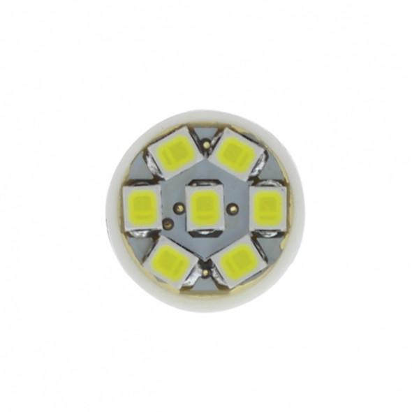 7 White LED 912, & 921 Socket Bulb