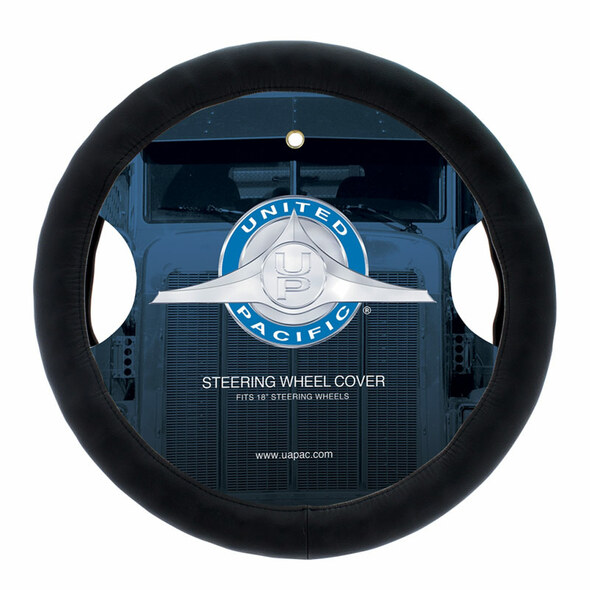 "Premium 18"" Comfort Grip Steering Wheel Cover Black"