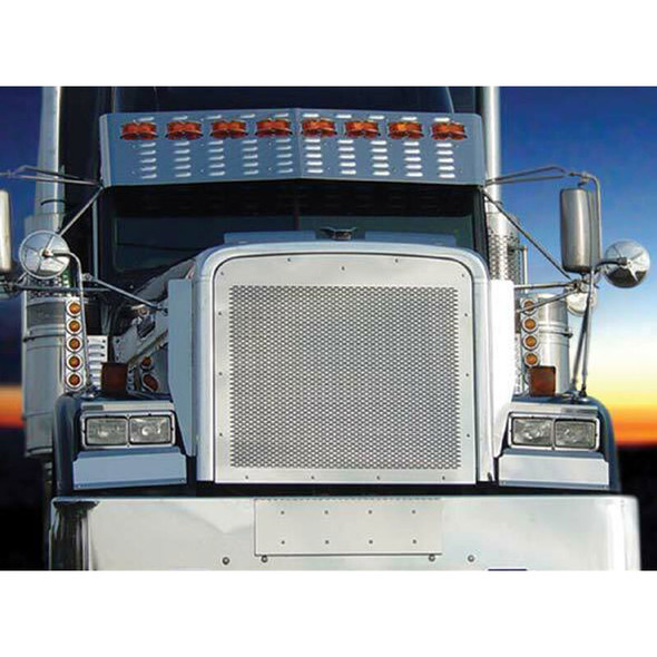 Freightliner Classic FLD 120 Stainless Steel Punch Grill