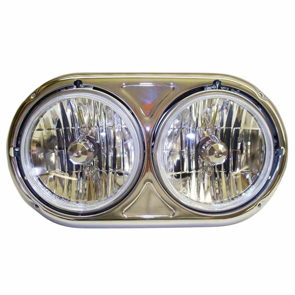 Kenworth W900A Dual Round Headlight Assembly Driver Side
