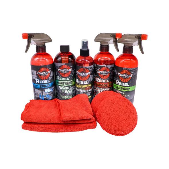 Renegade Wash Shine And Protect Mini Kit Items