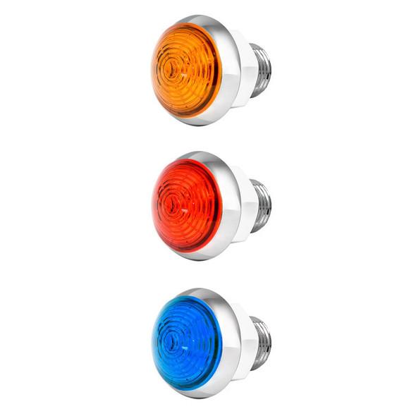 "1 1/4"" Mini Moon Dual Revolution Classic Style LEDs Off"