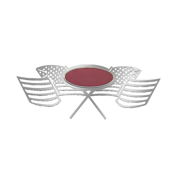 "Peterbilt Side Of Hood Logo ""Old Glory"" Style"