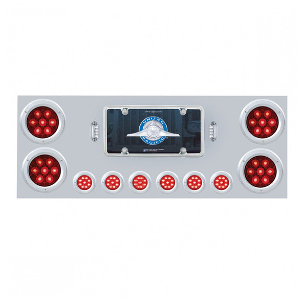 """Competition Series Rear Center Panel With 4"""" & 2"""" Round LEDs - Red Lens On"""