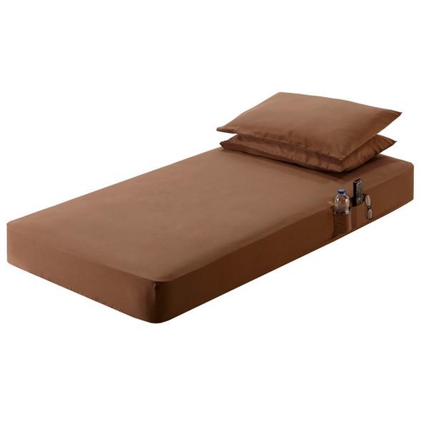 "39"" x 80"" Sleeper Cab Sheet Set Chocolate Brown"