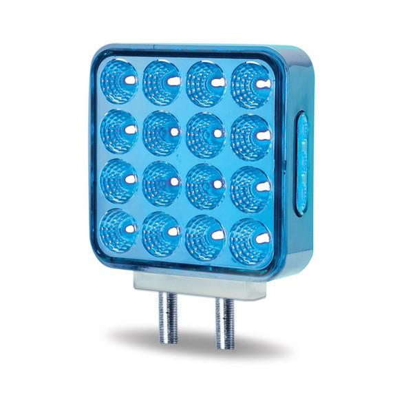 Square Dual Function Double Face Fender LEDs Blue