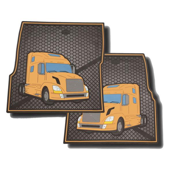 Volvo Rubber Floor Mats Yellow