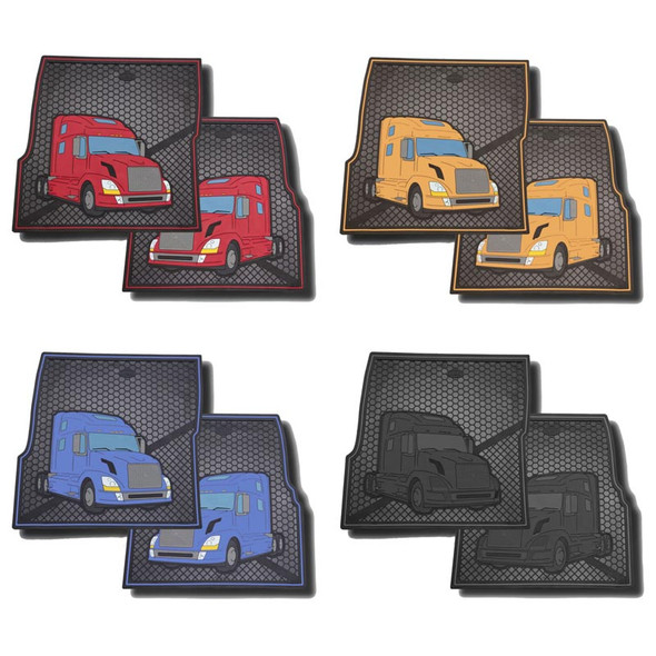 Volvo Rubber Floor Mats Red, Yellow, Blue, Black