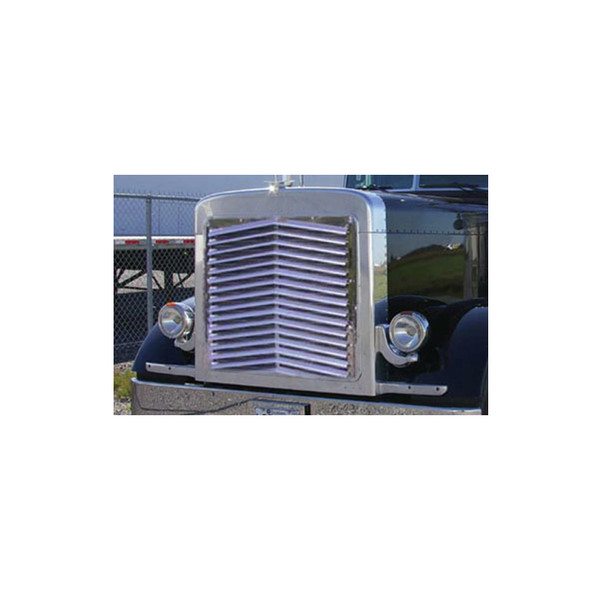 Peterbilt 379 Extended Hood Angled Louvered Grill TP-1102 Side View