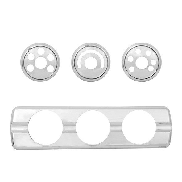 Freightliner Cascadia Dash AC Control Plate By Grand General With Knobs