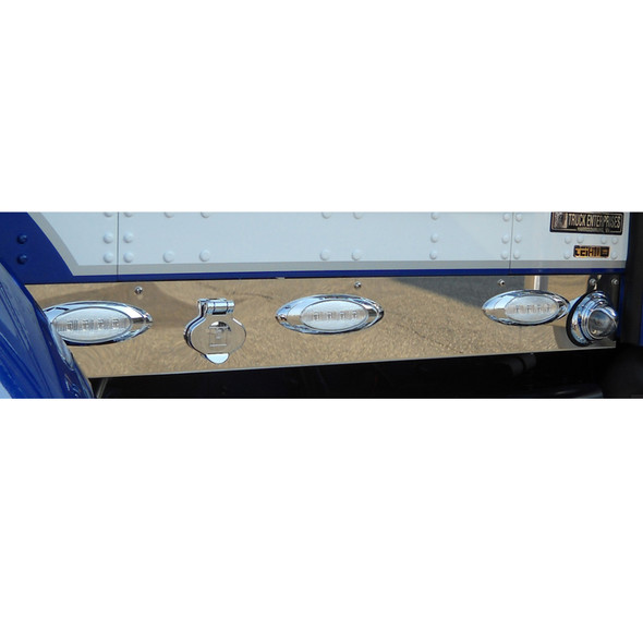 Kenworth T660 Stainless Steel Cab Panels On Truck